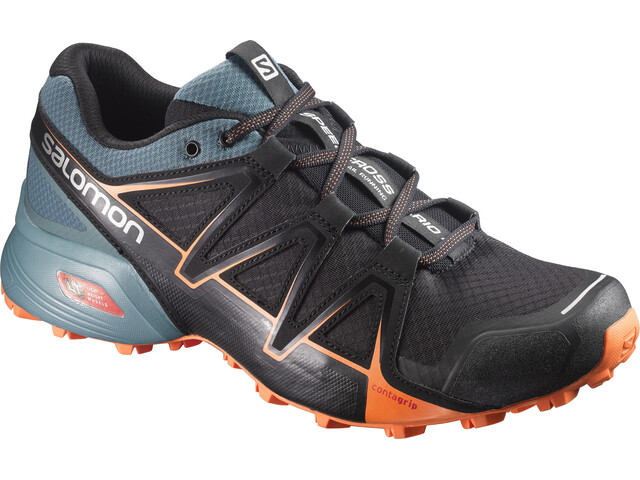 Salomon Speedcross Vario 2 Shoes Men Black(North Atlantic/Scarlet Ibis